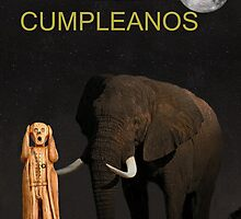 The Scream World Tour African Elephant Happy birthday Spanish by Eric Kempson