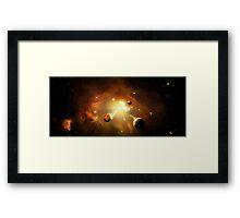 Nebula Rebirth Framed Print