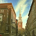 Narrow Boston Street Leading to Old North Church by Susan Russell