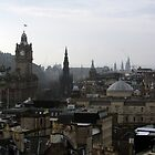 Edinburgh's rooftops - A view from Calton Hill by biddumy