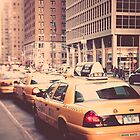 A Row of New York Cabs. by makatoosh