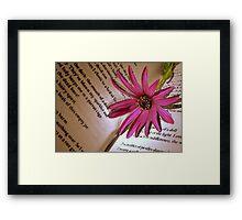 A Bookmark For Sylvia Framed Print
