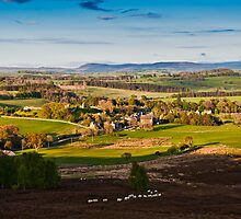 Harbottle Village, Coquetdale. Northumberland National Park UK by David Lewins