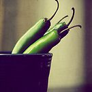 Serrano - Green Chili Peppers Foodie Photograph by ameliakayphotog