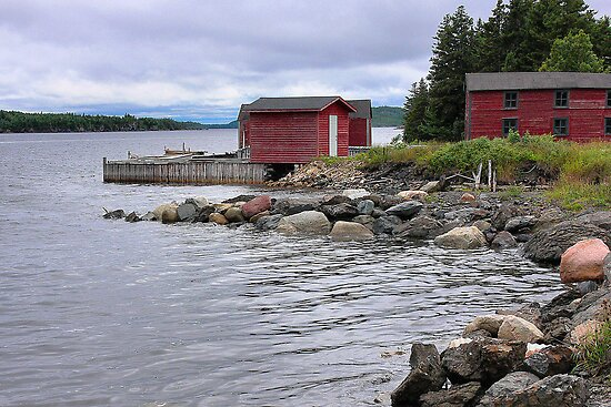Red fishing sheds by PhotosByHealy