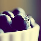 Bowl of Blueberries - Summer Fruit Food Photograph by ameliakayphotog