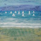 Winter sailing in Salcombe, Devon by Jenny Urquhart