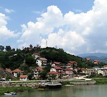 Visegrad under clouds by branko stanic