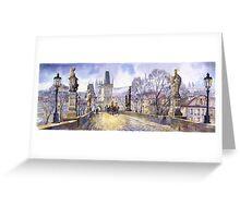 Prague Charles Bridge Mala Strana  Greeting Card