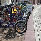 Bike rental Disney Board walk by Chris Bastow