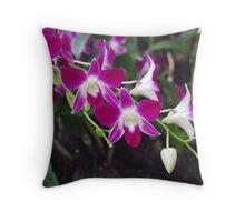 Orchid Garden Throw Pillow