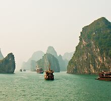 Halong Bay Panorama by Nickolay Stanev
