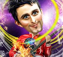 Matthew Bellamy Caricature by Iboudesign