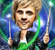 Dominic Howard Caricature by Iboudesign