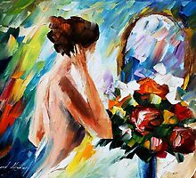 morning - original oil painting on canvas by Leonid Afremov by Leonid  Afremov