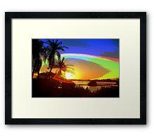 In god's eye Framed Print