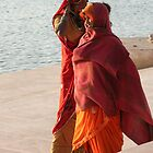Indian Women at the Holy Lake, Pushkar by TracyS