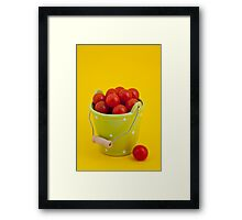Bucket of cherry tomatoes Framed Print