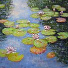 Waterlilies by Julia Lesnichy