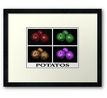 potato trio: quatro Framed Print
