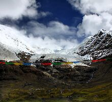 Glacier in Himalaya (Tibet) by Peter Freier
