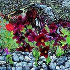 Buffalo Flower River Rocks by Wyldspace