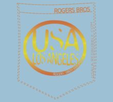 usa los angeles orange tshirt by rogers bros co by usaboston