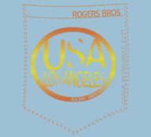 usa los angeles orange tshirt by rogers bros co by usaboston