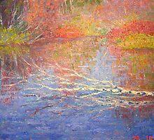 Fallen birch by Julia Lesnichy