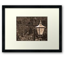 Gracious Old Sign and Lamp Framed Print