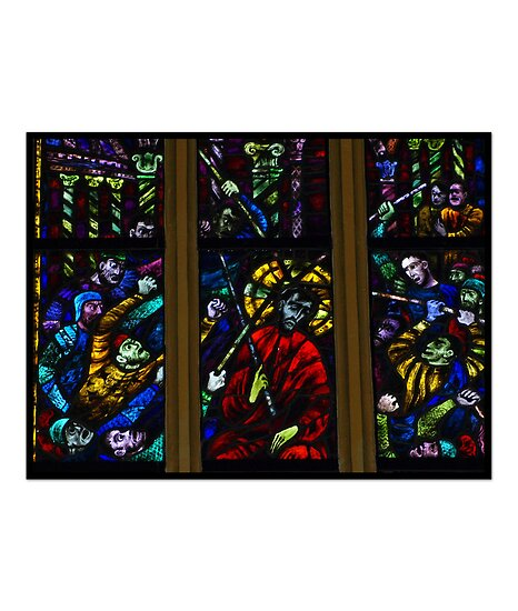 Interesting  Window in the Stadtpfarrkirche. by Lee d'Entremont