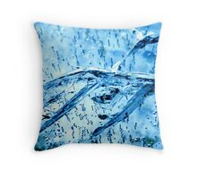 cracked ice Throw Pillow