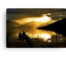 Lake Te Anau at sunset. South Island, New Zealand. (5) Canvas Print