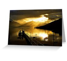 Lake Te Anau at sunset. South Island, New Zealand. (5) Greeting Card