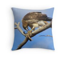 Red-tailed Hawk ~ Breakfast Ala Branch Throw Pillow