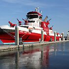 343 ~ FDNYs New Fireboat on Route to New York  by SummerJade