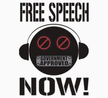 FREE SPEECH NOW! - Black by riotgear