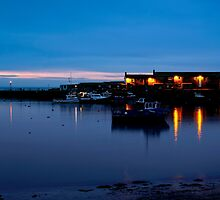 Lyme Regis  Cobb Harbour  -  Dawn by James  Key