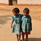 Indian children in Rajasthan by Christopher Cullen