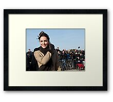 Kate meets the press Framed Print