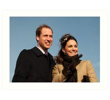 Prince William and Kate Middleton Art Print