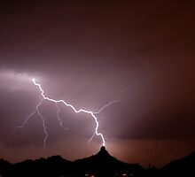 Pinnacle Peak Lightning Strike by ScottishVet