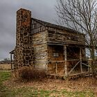 Cabin at Ft. Parker (Groesbeck, Texas) by Terence Russell