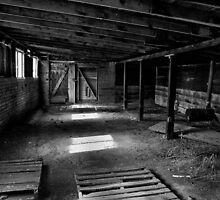 Old Barn Interior by Jeffrey  Sinnock