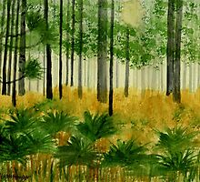 Florida Woods by Marie Luise  Strohmenger