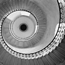Geometric Staircase - Looking up by Dave Godden