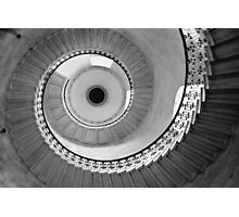 Geometric Staircase - Looking up Photographic Print