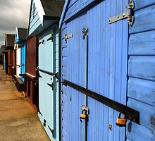 Highcliffe huts by Chris Day