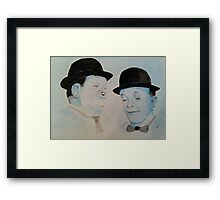 Laurel & Hardy a Wistful Moment Framed Print