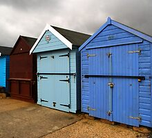 Highcliffe huts 2 by Chris Day